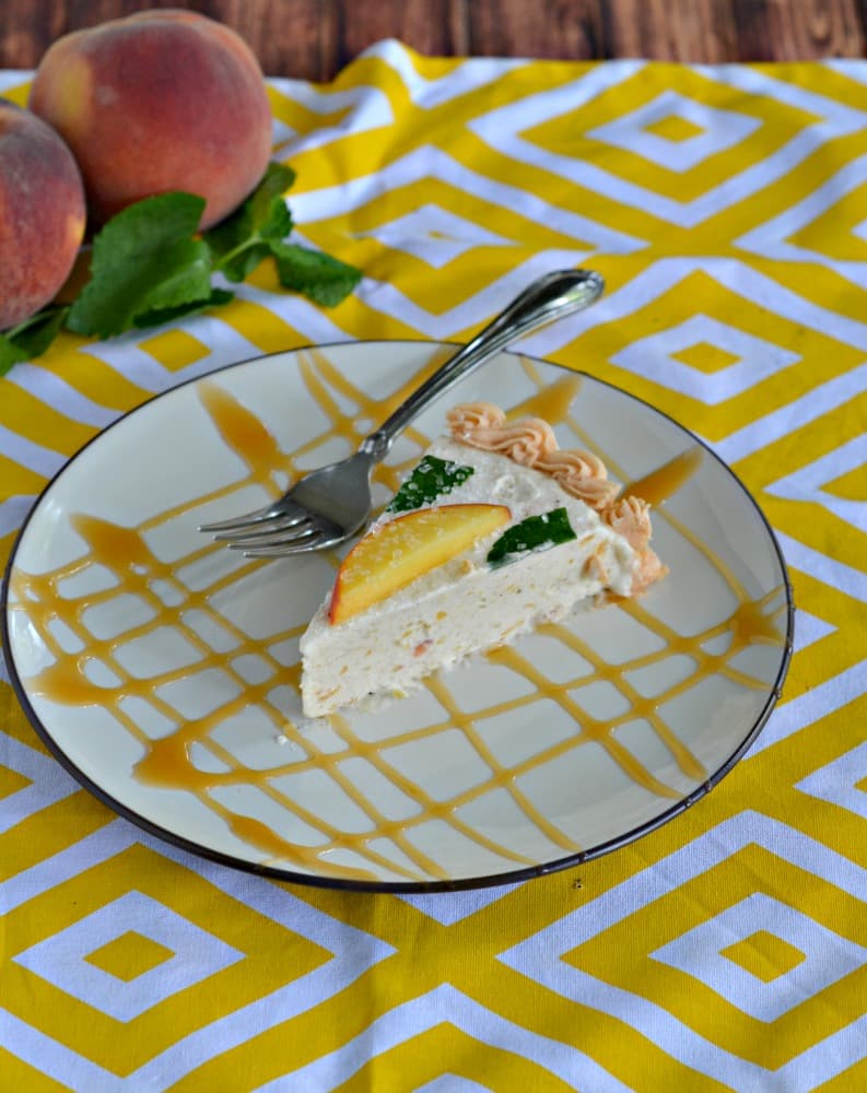 You'll want more then one slice of this incredible Brown Butter and Peach Chardonnay Ice Cream Cake
