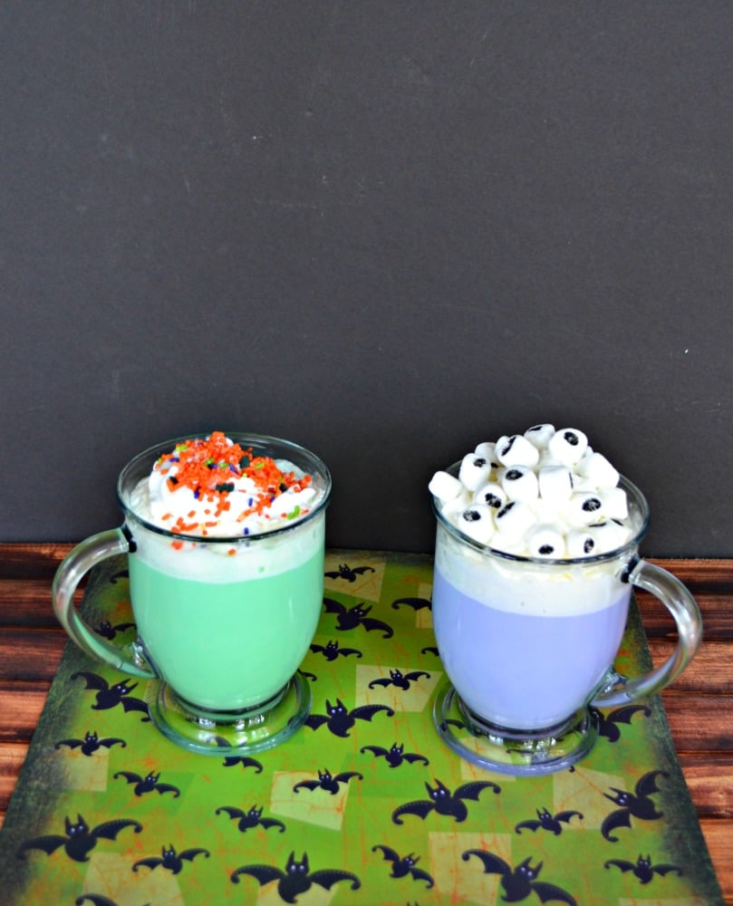 Kids will love these fun Halloween Hot Chocolates!