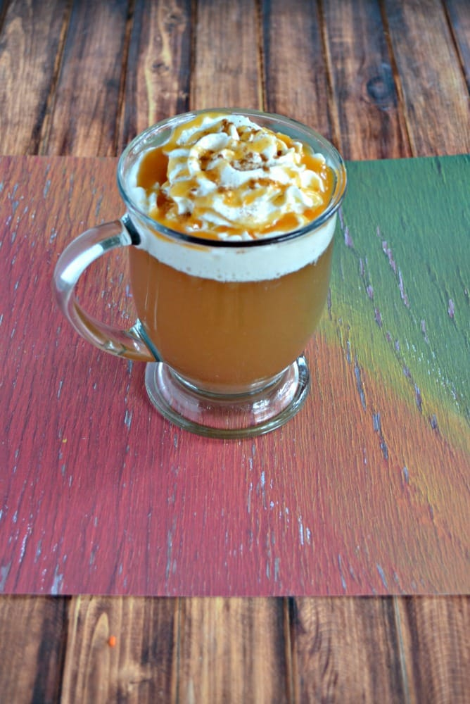 It's easy to make Caramel Apple Cider in the slow cooker!