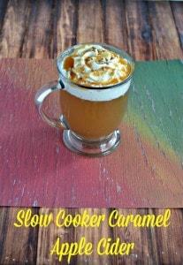 Slow Cooker Caramel Apple Cider #appleweek