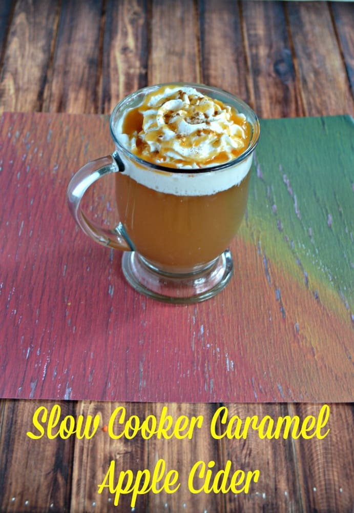 Slow Cooker Caramel Apple Cider is a delicious beverage perfect for parties or gatherings!