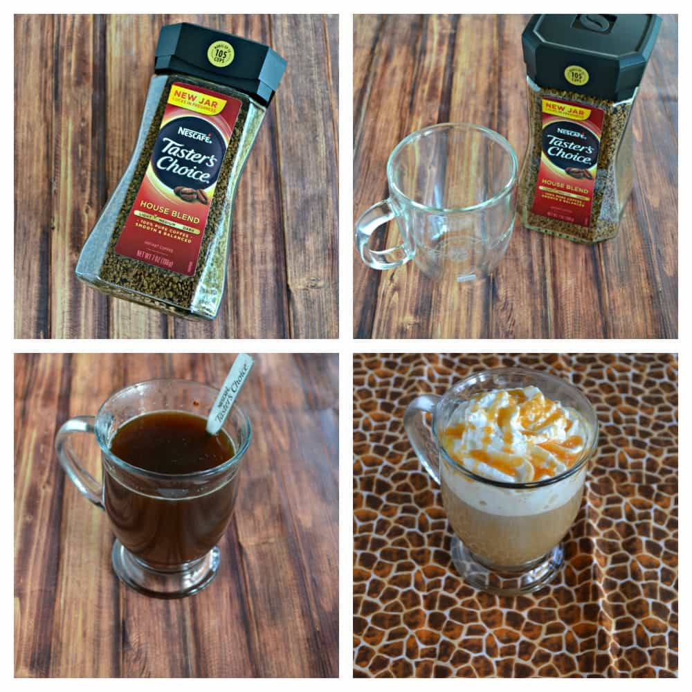 Just a few steps makes the best Caramel Vanilla Latte at home!