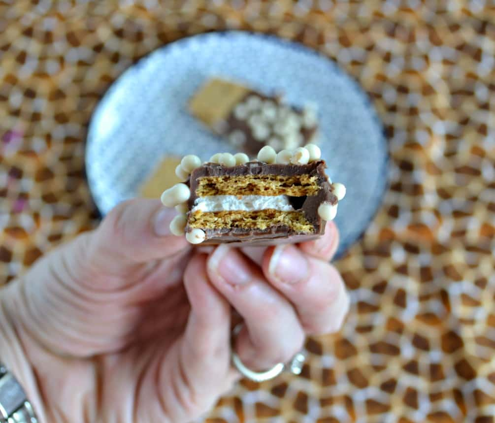 Delicious S'mores dipped in melted chocolate