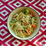 Lemon Fettuccine Alfredo with Chicken and Vegetables #SundaySupper