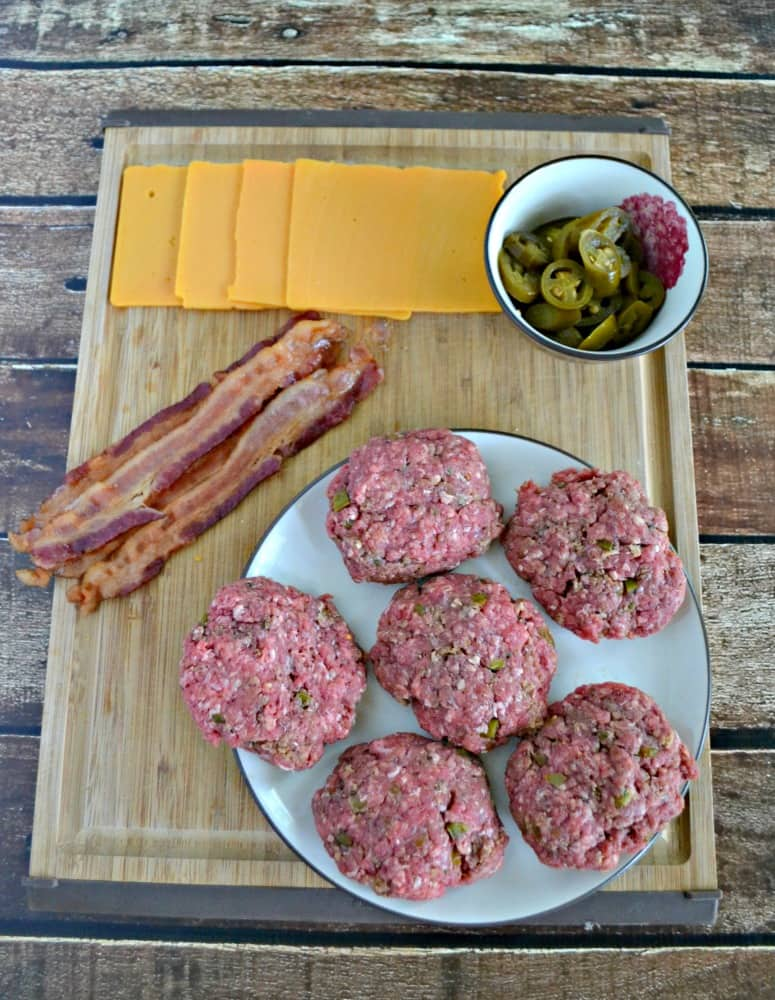 Everything you need to make Jalapeno Popper Burgers!