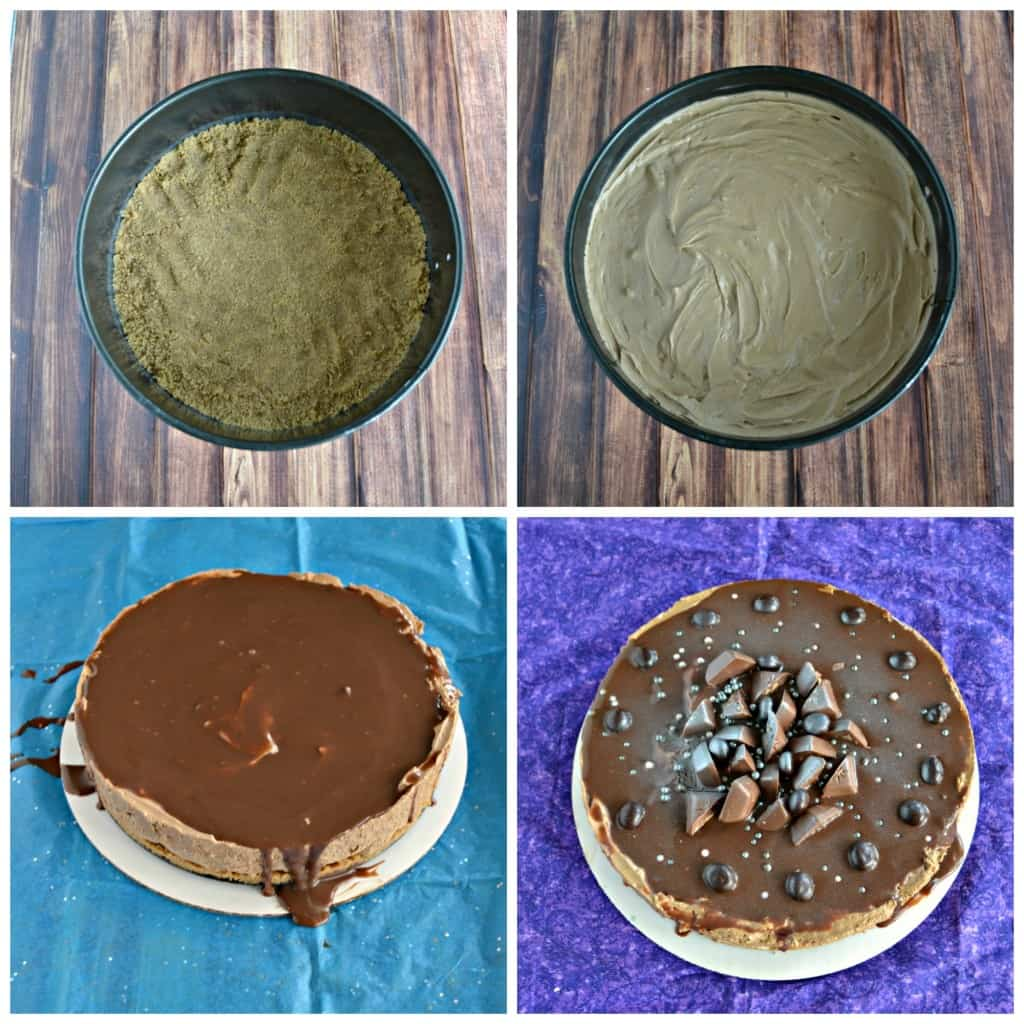 It only takes a few steps to make a delicious No Bake Mocha Cheesecake