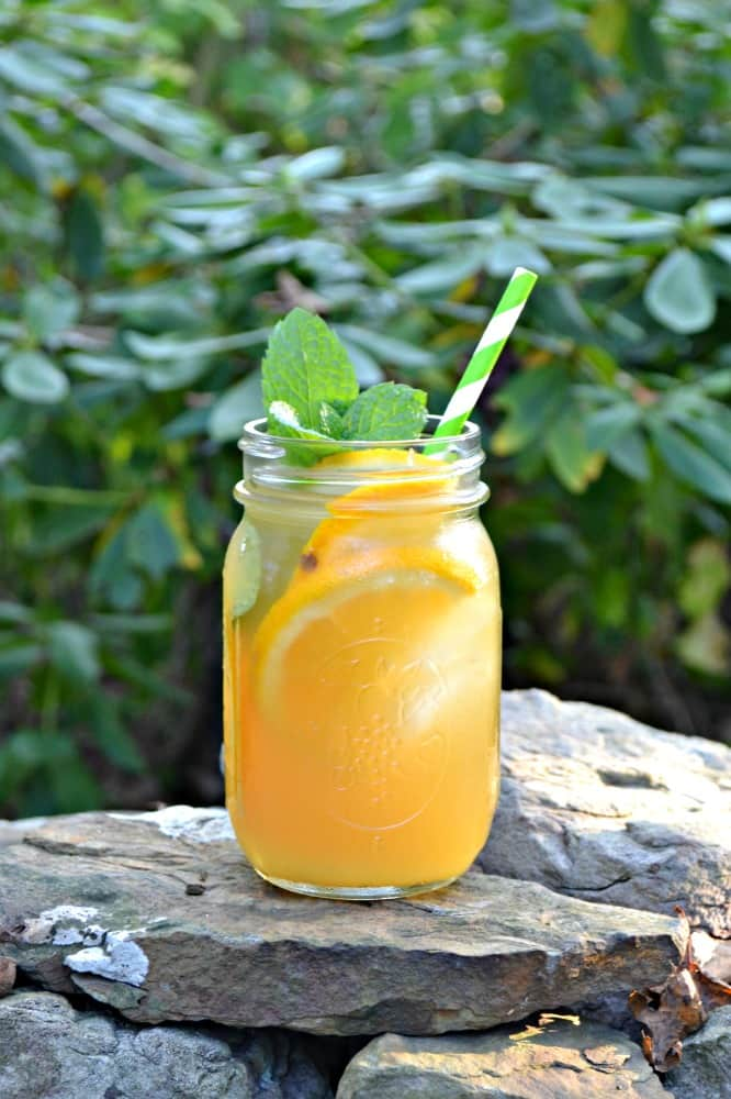 Cool off with this lightly sweetened Orange Vanilla Iced Tea!