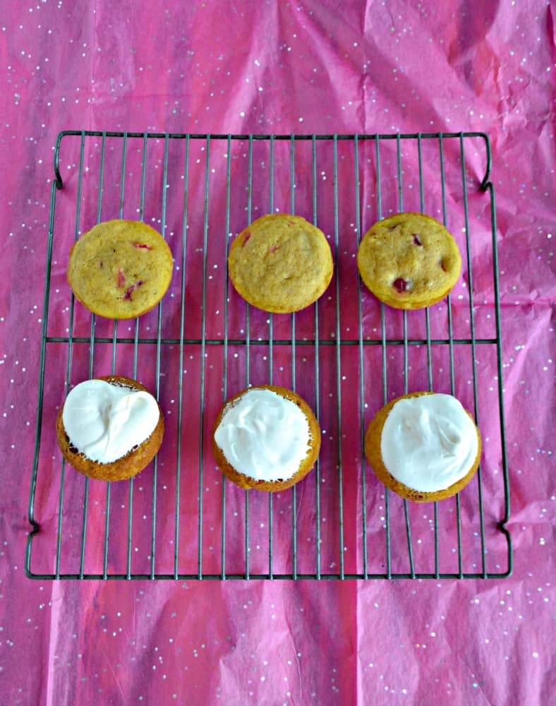 These Pumpkin Whoopie Pies are stuffed with Dulche de Leche filling!