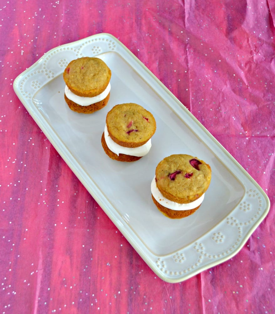 I love the flavors in these Pumpkin Whoopie Pies with Dulche de Leche Filling