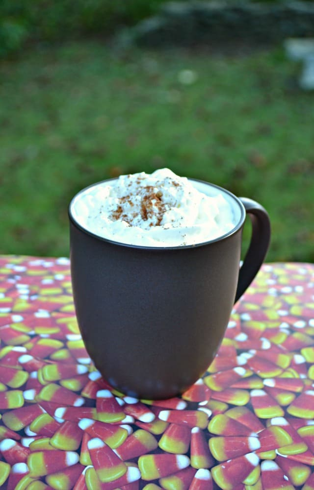 It's fall! Sip on this delicious Slow Cooker Pumpkin Spice Latte with Rum Chata