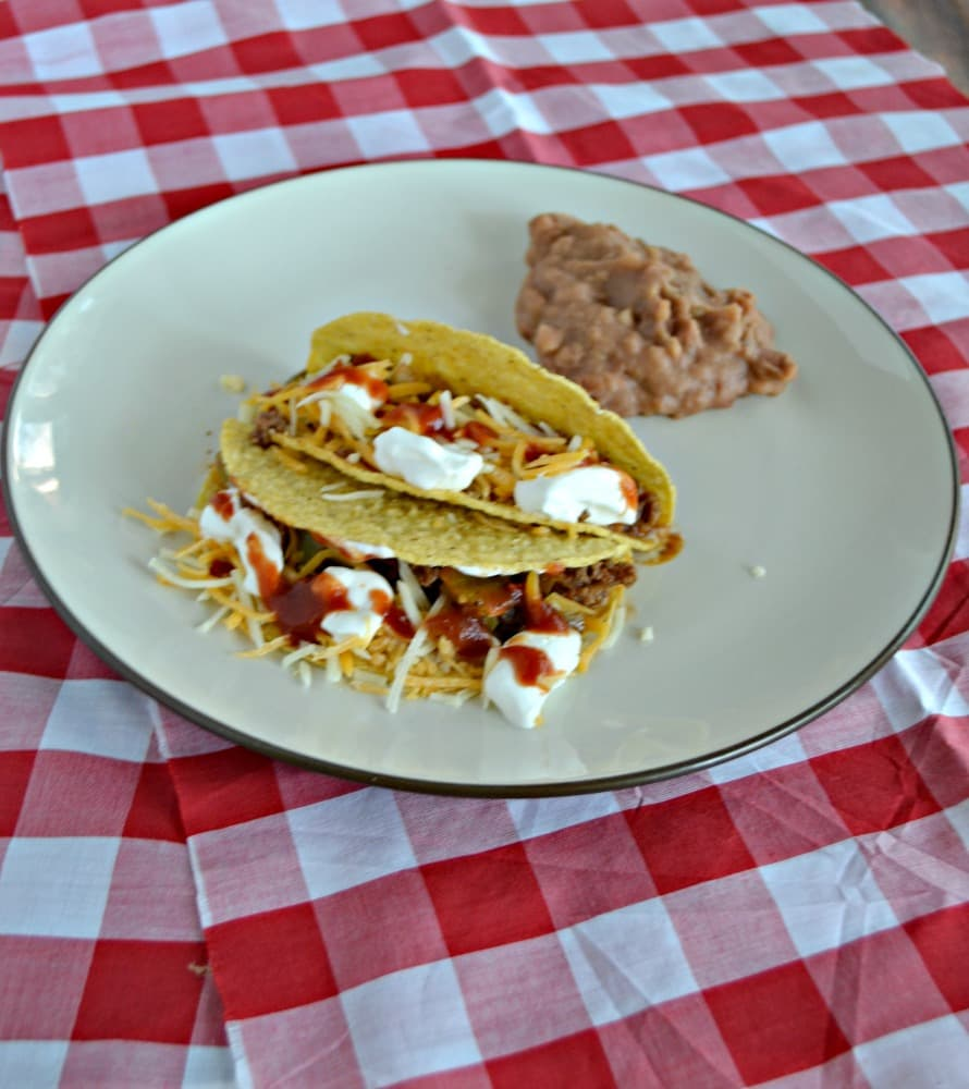 Spice up dinner with these Spicy Ground Beef Tacos!