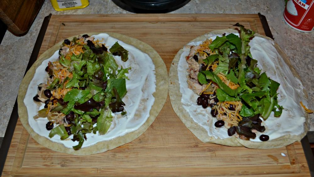 There's only a few ingredients to make Southwestern Tuna Wraps