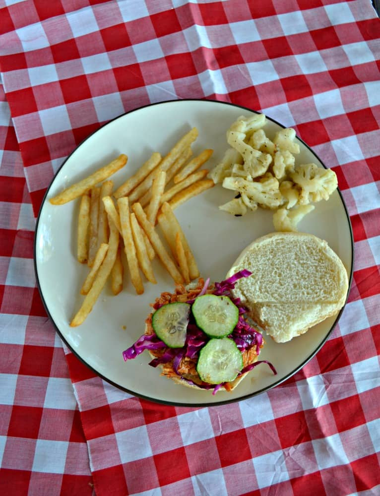 Looking for a delicious lunch? Check out this tasty BBQ Chicken Sandwich with Slaw!