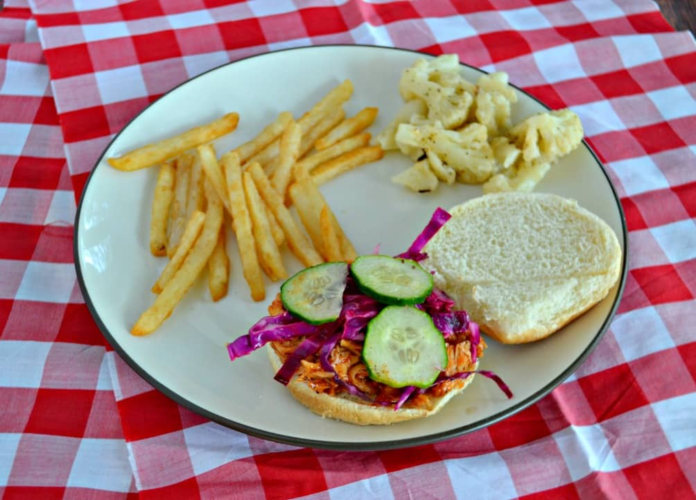BBQ Chicken Sandwich with Slaw is a quicka nd easy weeknight meal!