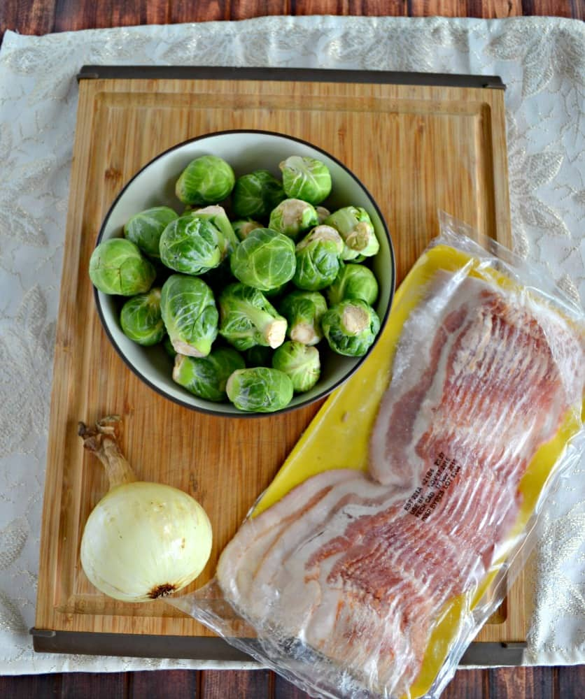Everything you need to make tasty Brussels Sprouts with Bacon and Onions