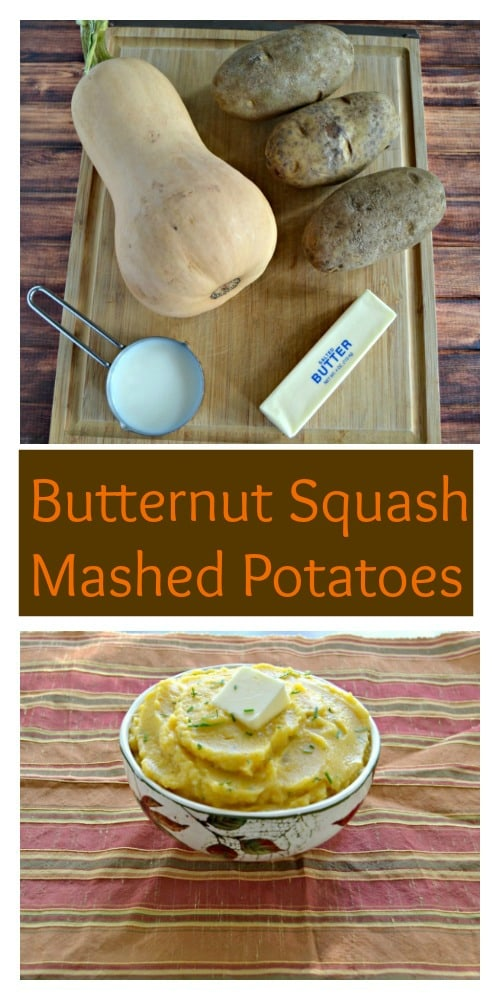 Looking for a fall side dish for Thanksgiving? Give mashed potatoes a twist with these delicious Butternut Squash Mashed Potatoes!