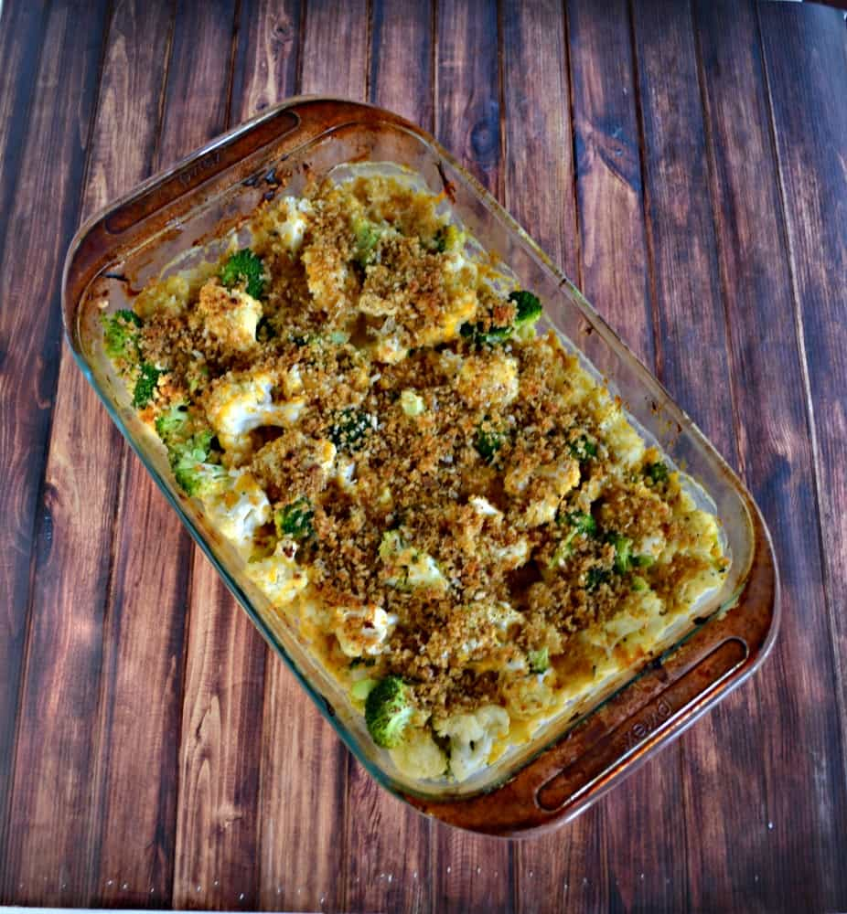 Broccoli and Cauliflower Cheese Casserole is a delicious holiday side dish