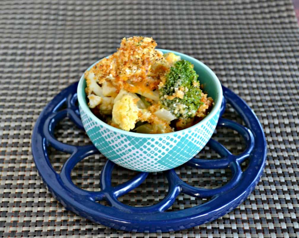 Dish up a bowl of this Broccoli and Cauliflower Cheese Casserole