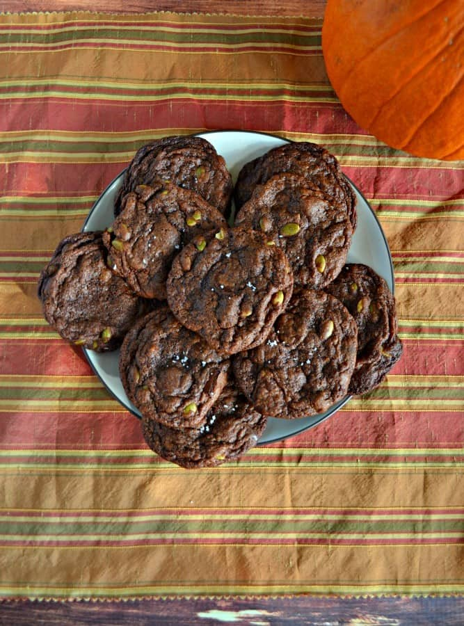 These awesome cookies are filled with chocolate chunks and pumpkin seeds!