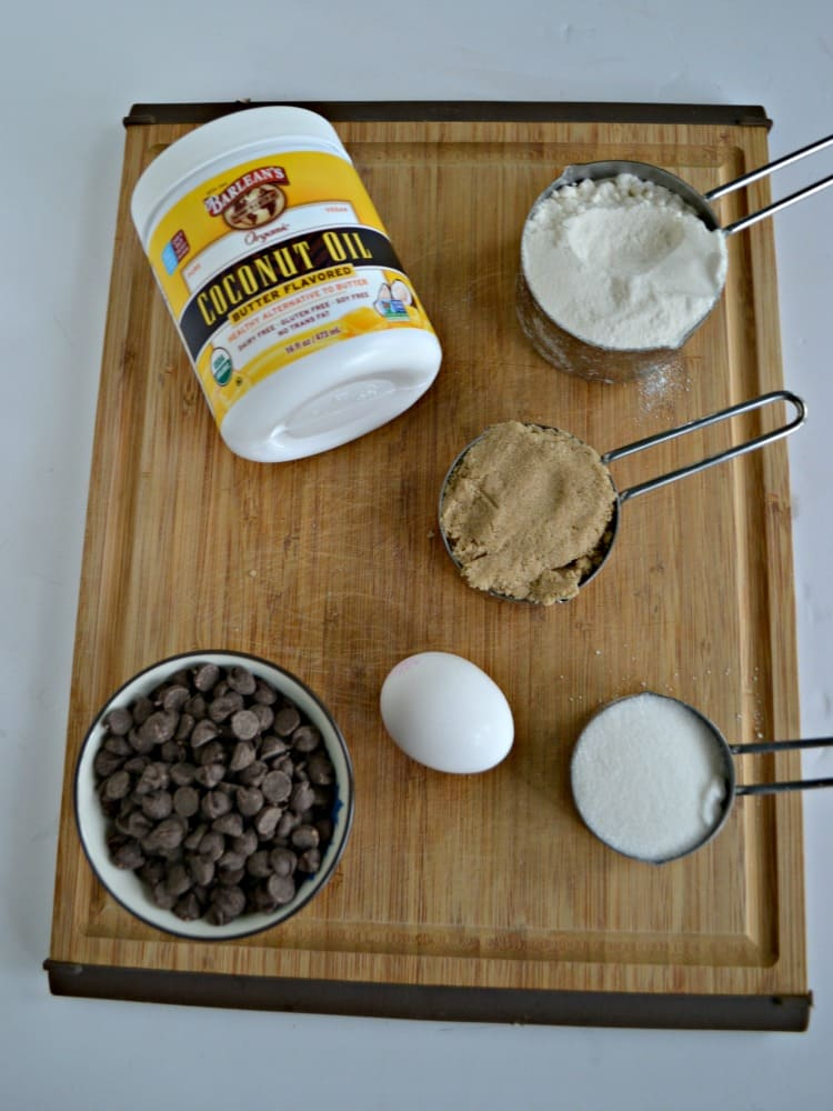Everything you need to make Gluten Free Chocolate Chip Cookie Bars!