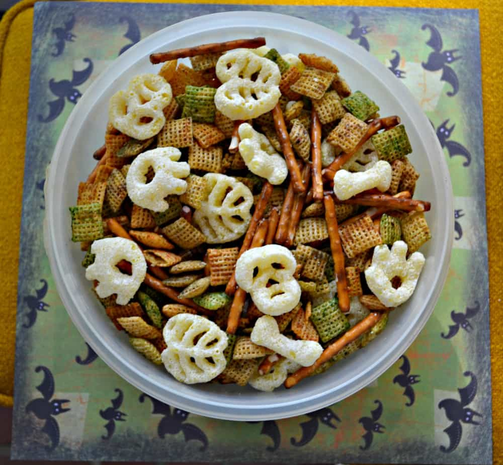 Give this tasty Halloween snack mix a try!