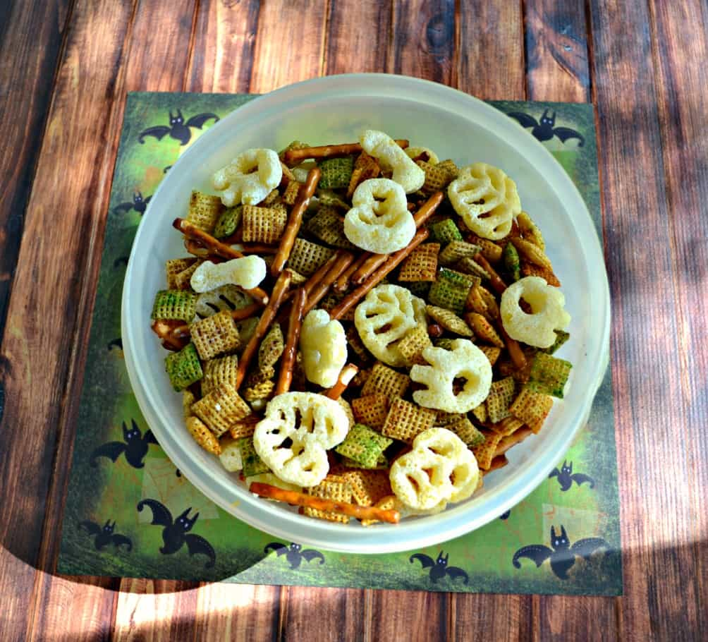 Check out my savory Halloween Snack Mix for a fun after school snack!
