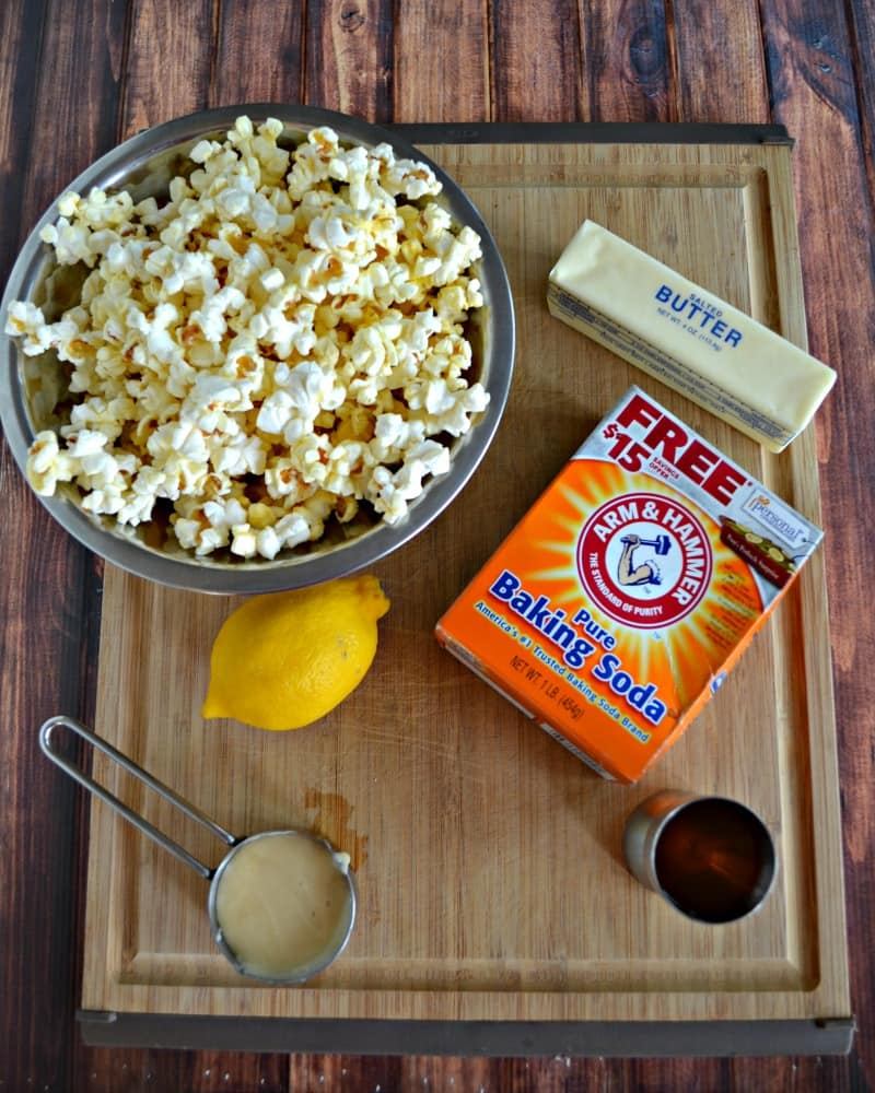 Everything you need to make Hot Toddy Caramel Corn