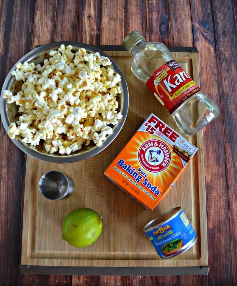 Everything you need to make Chile Margarita Caramel Corn!