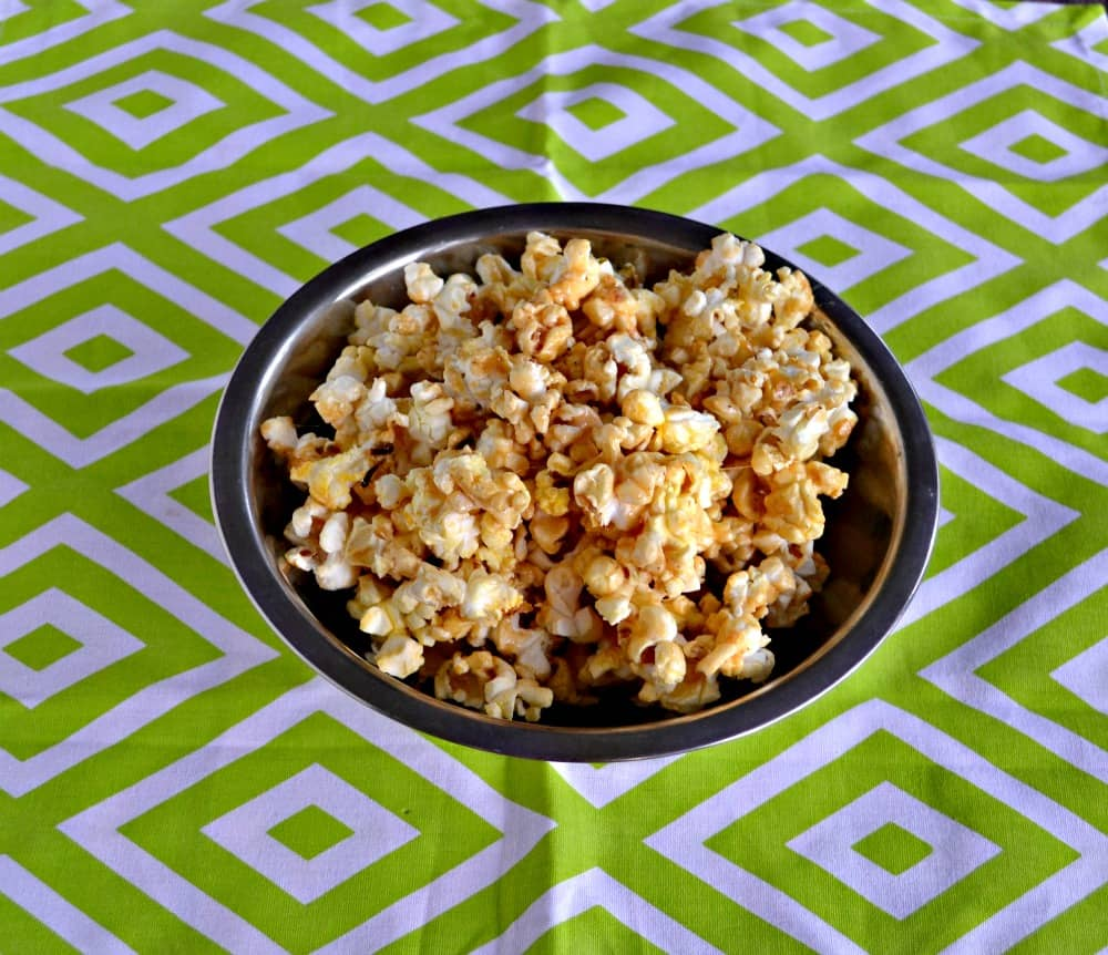 Try this delicious Chile Margarita Caramel Corn for a snack!