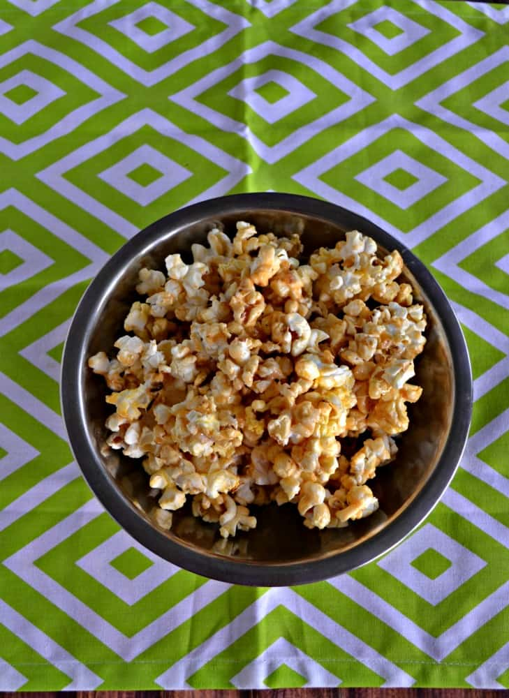 Grab a handful of this sweet and spicy Chile Margarita Caramel Corn