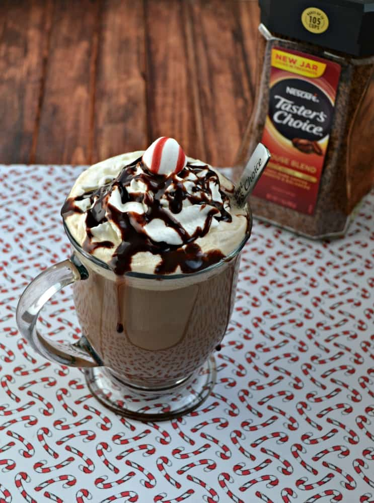 Grab a glass and make this Peppermint Mocha Latte in minutes!