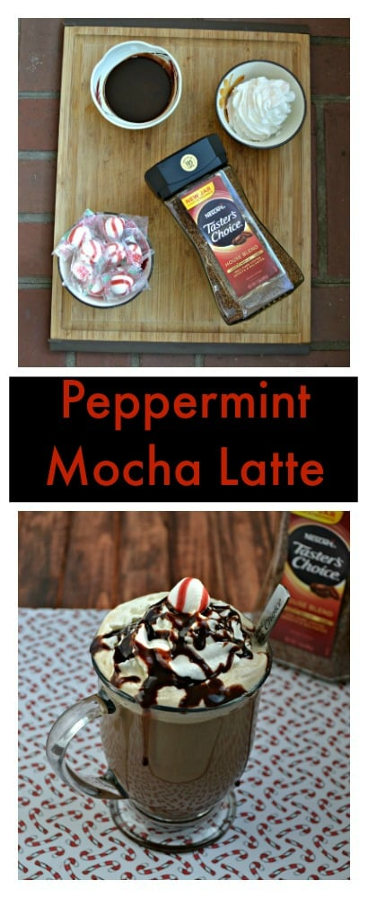 Love coffee shop drinks? Make this delicious Peppermint Mocha Latte at home in just minutes!