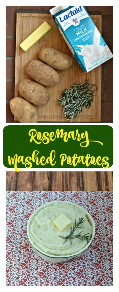 Need a tasty side dish for the holidays? Try these easy and delicious Rosemary Mashed Potatoes!
