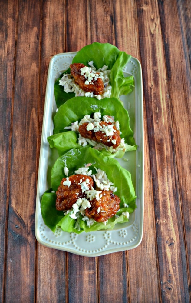 Bite into these BBQ Chicken Lettuce Wraps, perfect for appetizers or a snack!