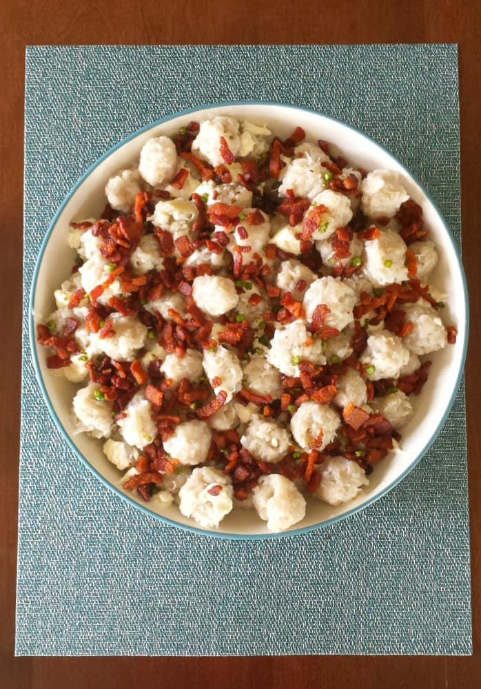 I love this traditional Halusky with Sheep Cheese, Bacon, and chives