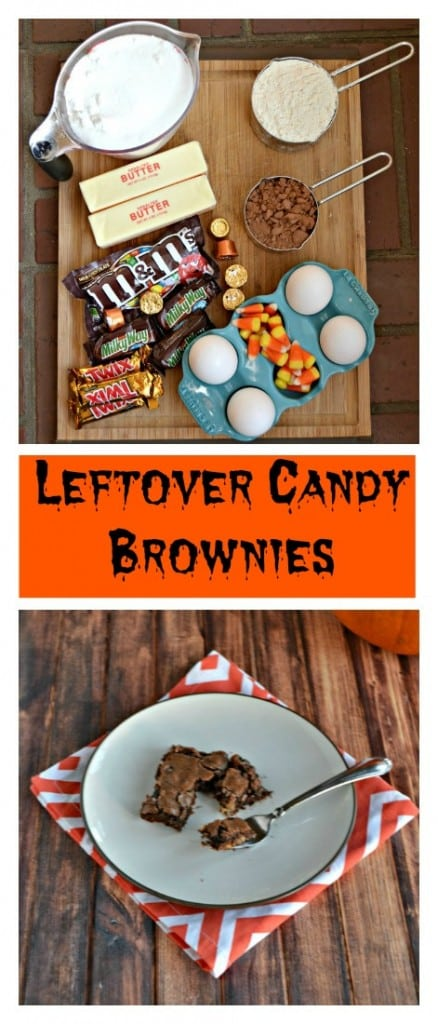 Have extra Halloween candy? Make these decadent Leftover Candy Fudge Brownies!