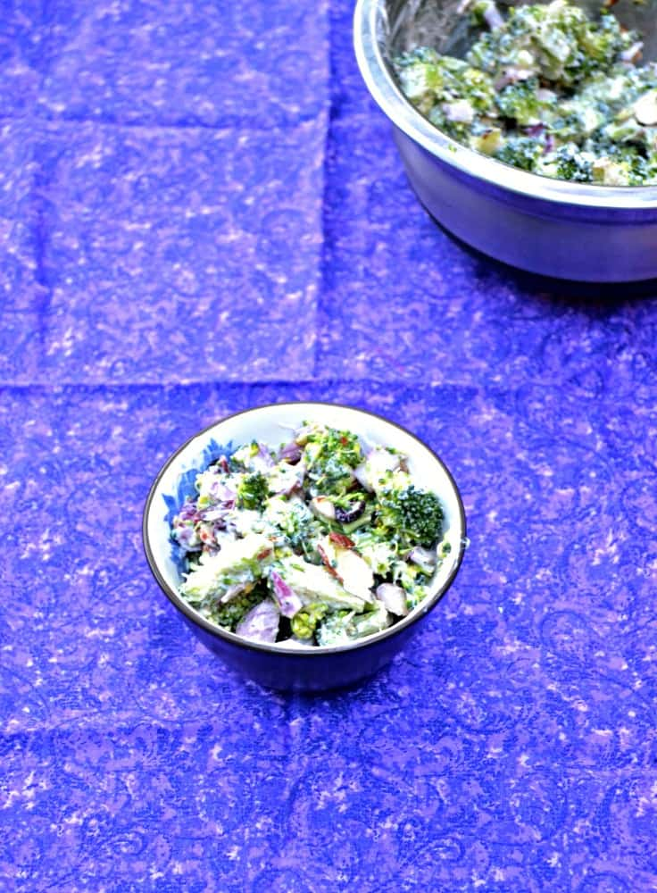 Broccoli Salad with Cranberries and Almonds is a delicious holiday side dish