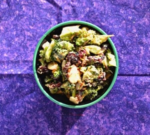 Broccoli Salad with Cranberries #CranberryWeek