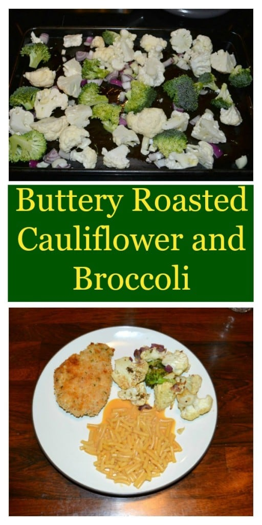 Looking for a great vegetable side dish? Try this delicious and easy to make Buttery Roasted Cauliflower and Broccoli