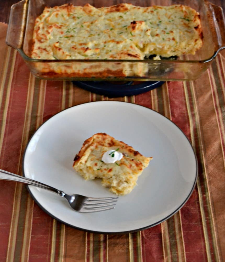 I love using leftover mashed potatoes in this Mashed Potato Puff Casserole!