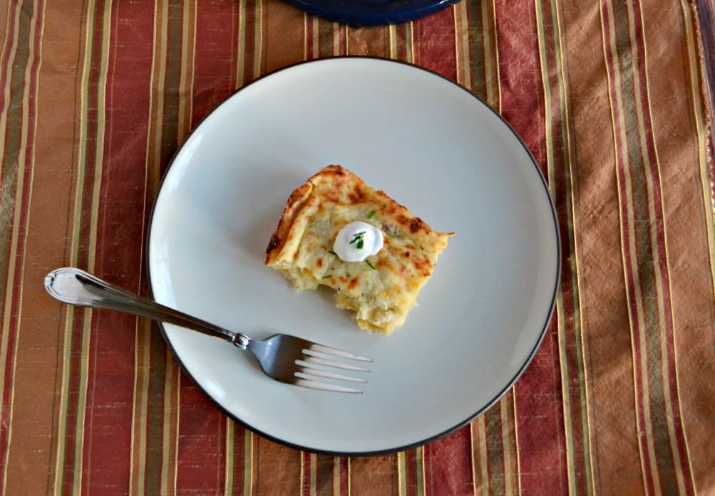 DOn't know what to do with your holiday leftovers? Try this tasty Mashed Potato Puff Casserole for something different!