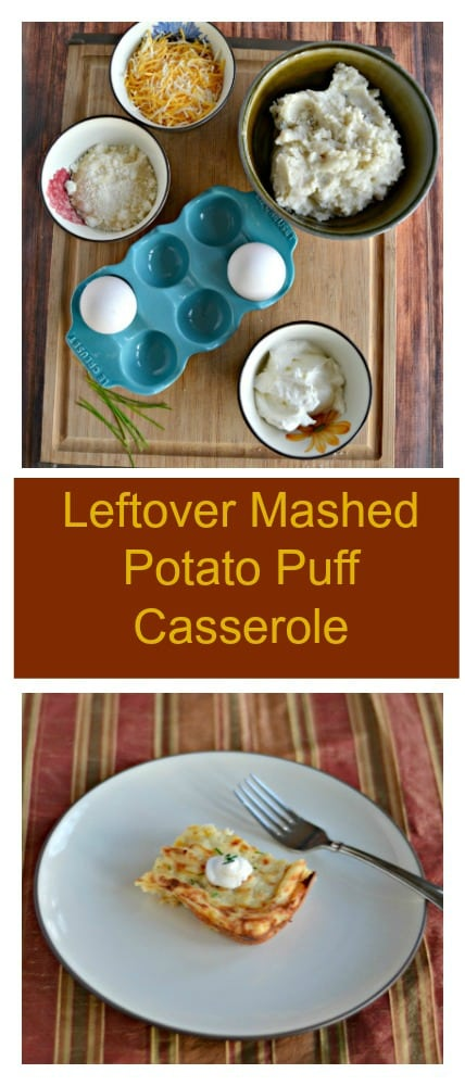 Have way too many leftover potatoes from the holidays? Repurpose them into my delicious Mashed Potato Puff Casserole!