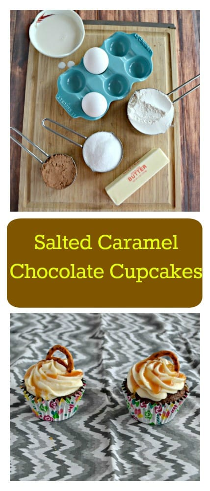 Need a fun holiday dessert? You'll love these sweet and salty Salted Caramel Chocolate Cupcakes for dessert!