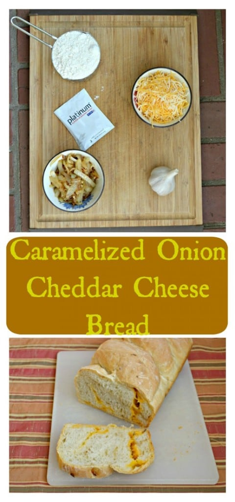 Try this delicious Caramelized Onion Cheddar Cheese Bread with dinner tonight!