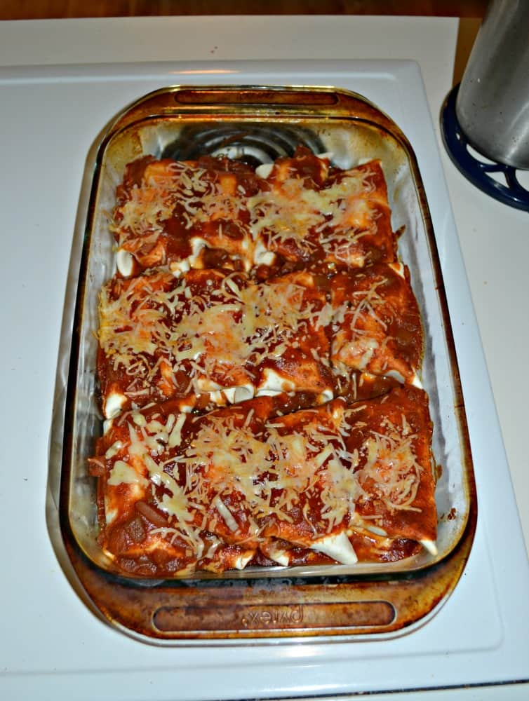 The secret to making The Best Chicken Enchiladas is making a tasty homemade sauce!