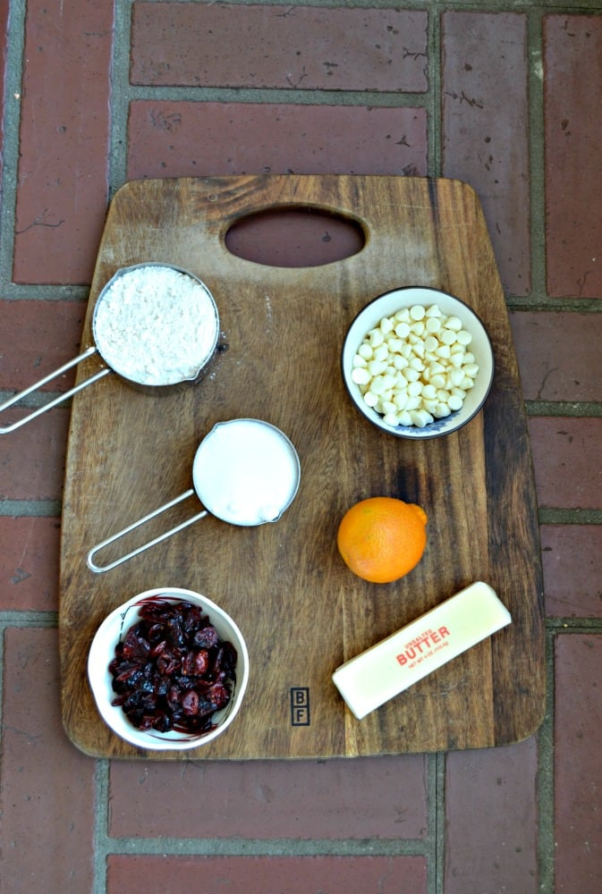 Everything you need to make Cranberry Bliss Bar Cookies