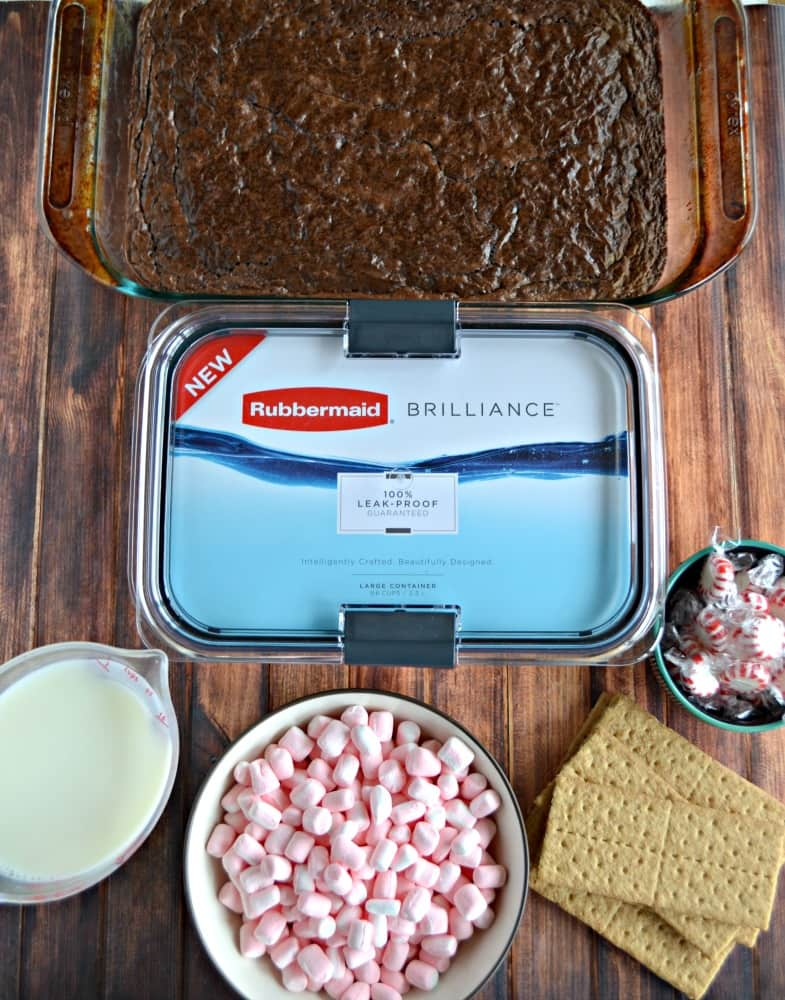 Everything you need to make a Peppermint S'mores Trifle!