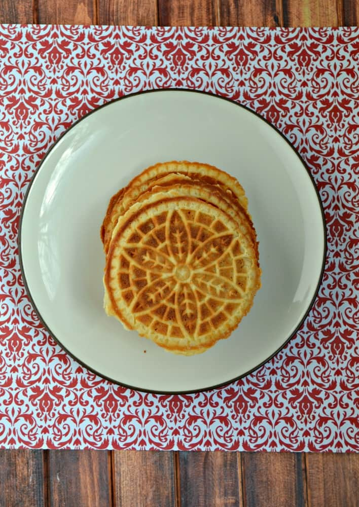 Love the crunchy texture of these Spiced Vanilla Pizzelles!