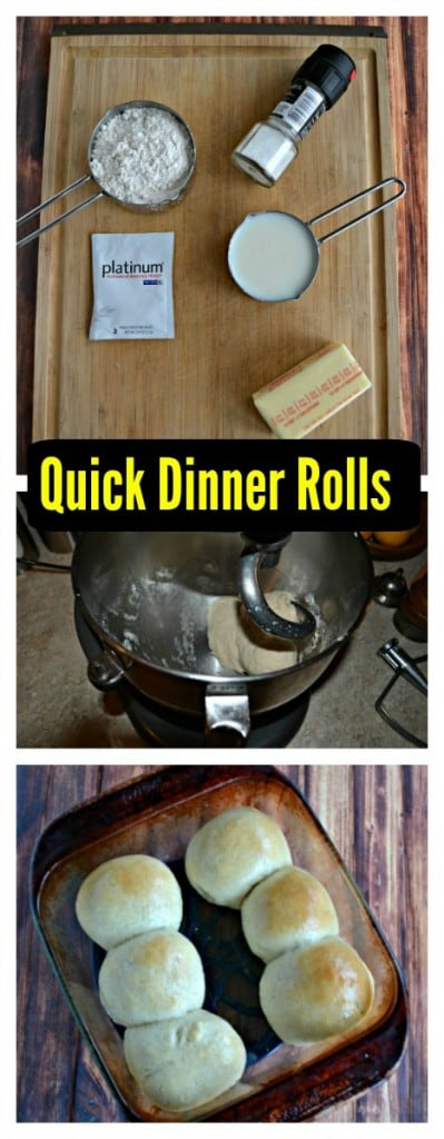There's just a few steps to make these easy 30 Minute Dinner Rolls!