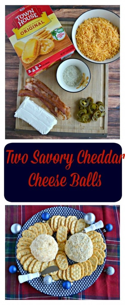 Need a fun and easy holiday appetizer? I've got two savory cheese ball recipes! One is a Classic Cheddar Cheese Ball and the other is a Jalapeno Bacon Ranch Cheese Ball.